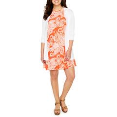 Ronni Nicole Elbow Sleeve Cardigan or Studio 1 Sleeveless Shift Dress