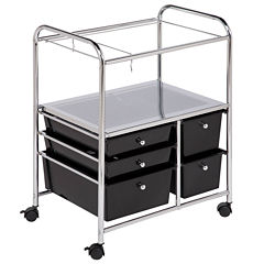 Honey-Can-Do® 5-Drawer Hanging File Cart