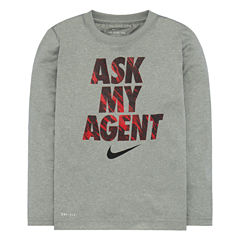 Nike Long Sleeve Crew Neck T-Shirt-Baby Boys