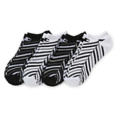 Champion® 4-pk. Double Dry® Striped No-Show Socks
