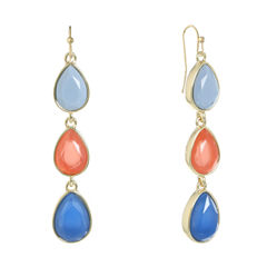 Liz Claiborne Multi Color Drop Earrings