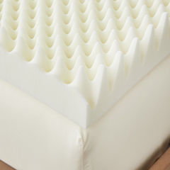 Restful Solutions Deluxe Textured 4 Inch Memory Foam Topper