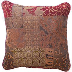 Croscill Classics® Catalina Red  Square Decorative Pillow