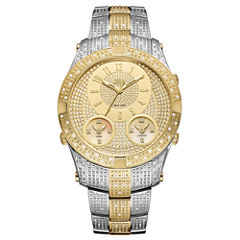 JBW Jet Setter III Stainless Steel 1.18 C.T.W Diamond Accent Mens Two Tone Bracelet Watch-J6348c