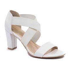 Andrew Geller Queena Womens Heeled Sandals