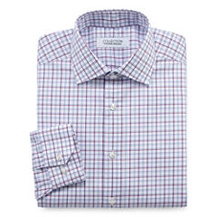 Collection by Michael Strahan Wrinkle-Free Cotton Stretch Long Sleeve Dress Shirt Woven Gingham Big & Tall