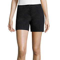 Worthington Woven At Waist Shortie Shorts