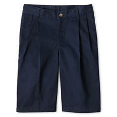 IZOD® Pleated Twill Shorts - Boys 8-20, Slim and Husky
