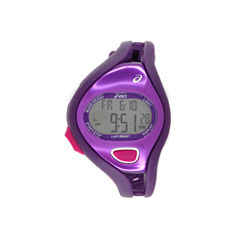 Asics Ar05 Runner Unisex Purple Strap Watch-Cqar0511y