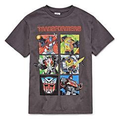 Ss License Tees Transformers Graphic T-Shirt-Big Kid Boys