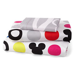 Disney Collection Mickey Mouse Chevron Sheet Set