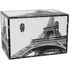 Oriental Furniture Eiffel Tower Storage Trunk