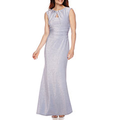 Blu Sage Sleeveless Sparkle Gown