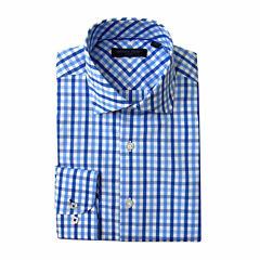 Andrew Fezza Long Sleeve Poplin Pattern Dress Shirt - Slim
