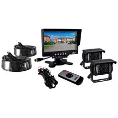 Pyle PLCMTR72 7IN Commercial-Grade Weatherproof Backup Cameras & Monitor System