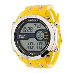 Everlast® Mens Yellow Silicone Strap Watch
