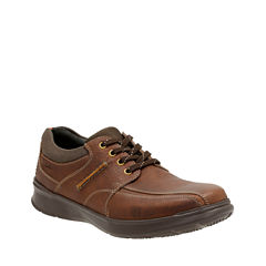Clarks® Cotrell Walk Mens Leather Lace-Up Shoes