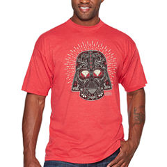 Starwars Vader Sugar Short Sleeve Graphic T-Shirt-Big and Tall