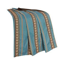 HiEnd Accent Ruidoso Turquoise Stripe Throw