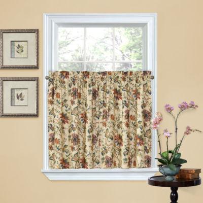 Delightful Waverly® Felicite Rod Pocket Window Tiers