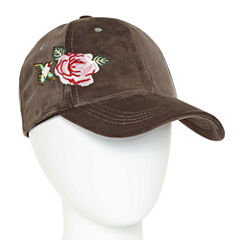 Mixit Floral Velvet Embroidered Baseball Cap