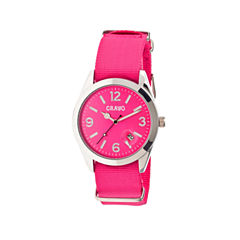Crayo Women's Sunrise Pink Nylon-Band Watch with Date  Cracr1708