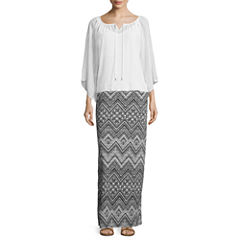 Alyx® Long-Sleeve Crochet Woven Top or Printed Maxi Skirt