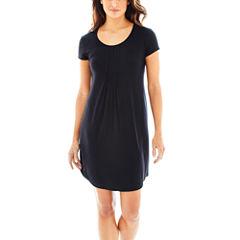 Ambrielle Jersey Short Sleeve Nightshirt-Plus