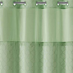 Hookless Mosaic Shower CurtainUnisex Shower Curtains for Bed   Bath   JCPenney. Orange Shower Curtain Liner. Home Design Ideas