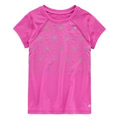 Xersion Short Sleeve Round Neck T-Shirt-Preschool Girls