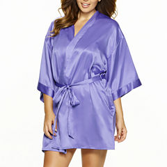 Jezebel Gem Satin Belted Kimono Robe - Plus