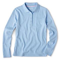 IZOD® Long-Sleeve Polo Shirt - Girls 7-18 and Plus