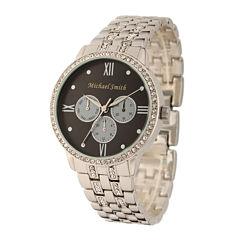 Personalized Dial Womens Silver-Tone Bracelet Watch