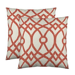 Colorfly™ Piper 2-Pack Sqaure Decorative Pillows
