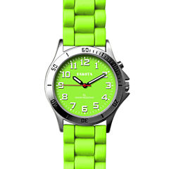 Dakota Women's Silicone Color EL Strap Watch, Green