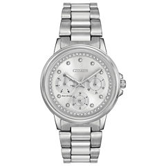 Citizen® Eco-Drive Ladies' Stainless Steel Watch With Swarovski Crystal Accents Fd2040-57A