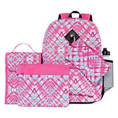 6PC Pink Tie Dye Backpack Set