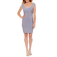 La Cite Short Sleeve Bodycon Dress