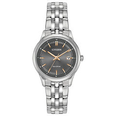 Citizen® Eco-Drive Ladies' Stainless Steel Watch With Sapphire Crystal Ew2400-58H