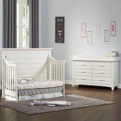 Olzo Baby Crestwood 2 PC Baby Furniture Set  Oyster White