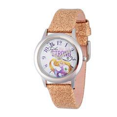 Disney Princess Girls Gold Glitz Tangled Strap Watch W002963