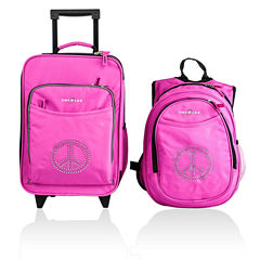 Obersee® Kids 2-pc. Peace Sign Luggage & Backpack with Cooler Set