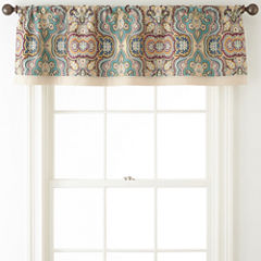 JCPenney Home™ Casbah Rod-Pocket/Tab-Top Lined Valance