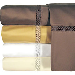 Veratex 800tc Cotton Sateen Embroidered Prince Set of 2 Pillowcases