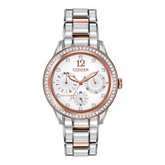 Citizen® Eco-Drive® Womens Two-Tone Multifunction Watch FD2016-51A