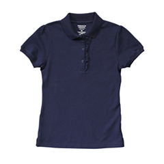 French Toast Short Sleeve Pique Polo Shirt - Preschool Girls