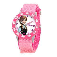Disney Frozen Anna Kids Time Teacher Pink Fast Strap Watch