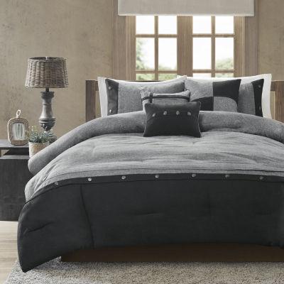 madison park westbrook colorblock 7pc comforter set