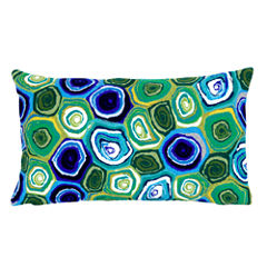 Liora Manne Visions Iii Murano Swirl Rectangular Outdoor Pillow