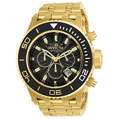 Invicta Mens Gold Tone Strap Watch-23936